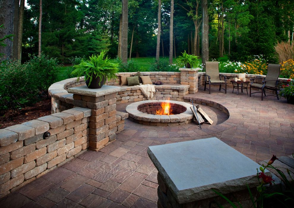 Blue Max Materials with Traditional Patio Also Arbor Belgard Block Belgard Pavers Fireplace Patio Sitting Area Stone