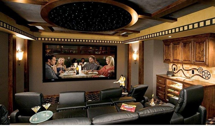 Boca Raton Movie Theater   Modern Family Room  and Home Theater Home Theater Boca Raton Home Theater Installation Home Theater Systems
