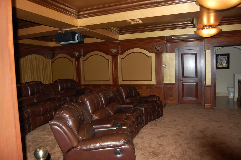 Boca Raton Movie Theater with Mediterranean Home Theater  and Boca Raton Boca Raton Interior Design Boca Raton Interior Designer Crown Molding Crystal Chandelier Dome Ceiling House for Sale Boca Raton