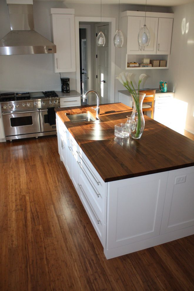 Carbonized Bamboo Flooring   Contemporary Kitchen Also Bamboo Bamboo Flooring Carbonized Flooring Strand Woven