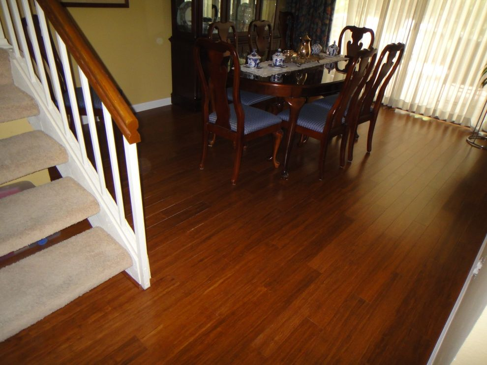 Carbonized Bamboo Flooring   Traditional Dining Room  and Traditional