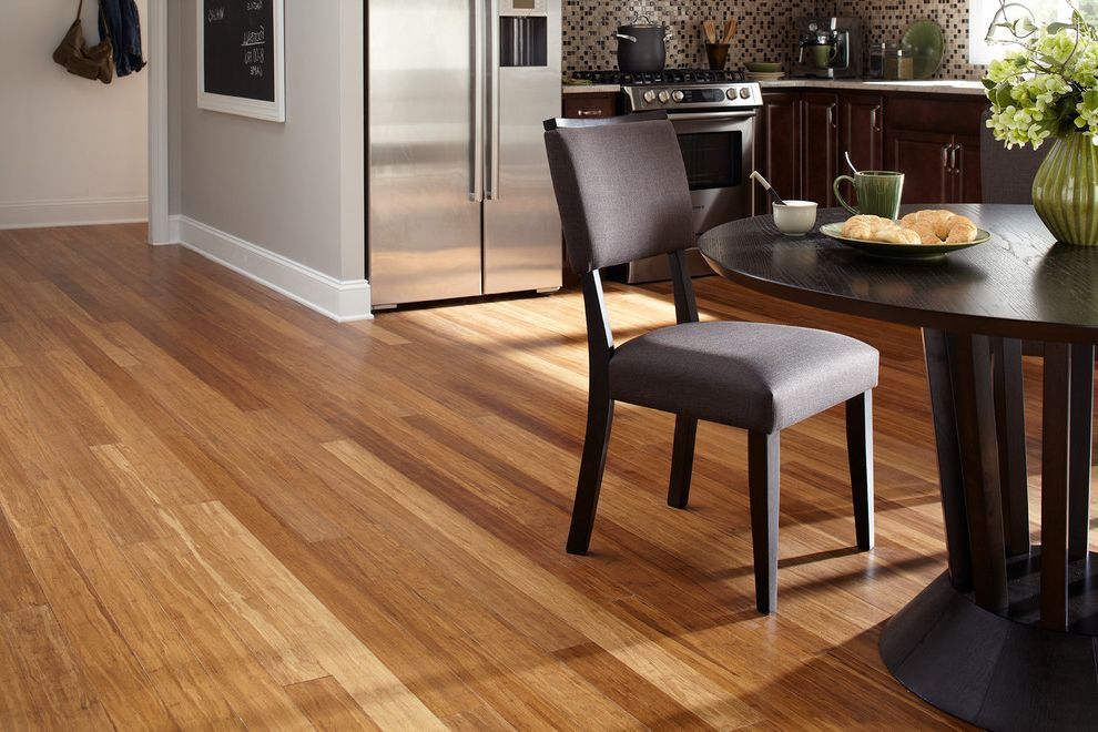Carbonized Bamboo Flooring with Contemporary Kitchen  and Bamboo Flooring Islander Kitchen Modern Style