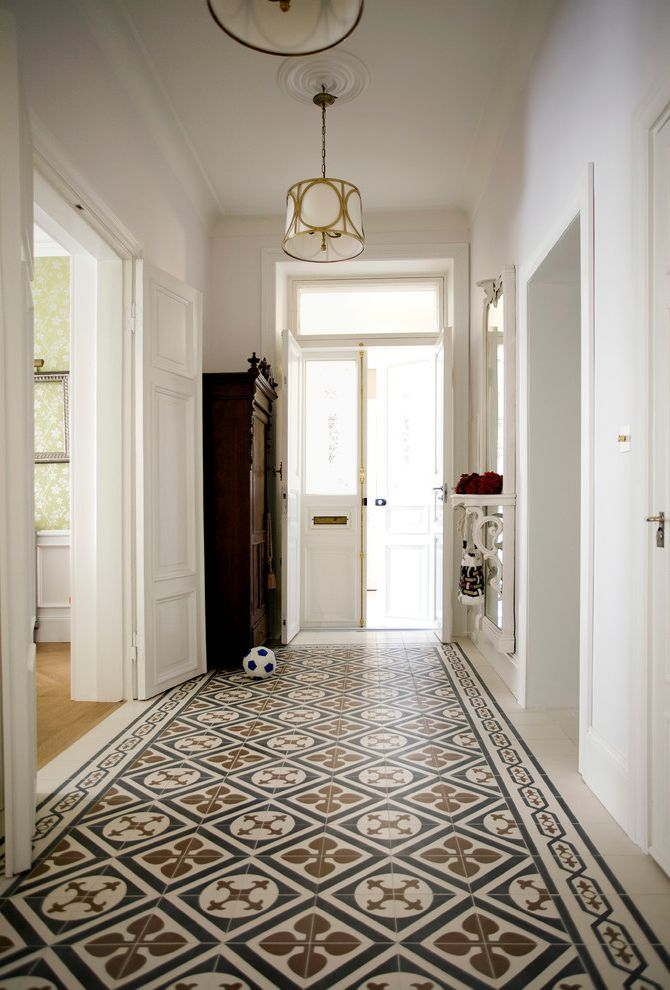 Carpet Tiles Lowes with Traditional Entry  and Decorative Floor Tiles Entrance Hall Floor Tile Front Door Hallway Flooring Hallway Tile Patterned Floor Tile Tiled Floor Tiled Flooring