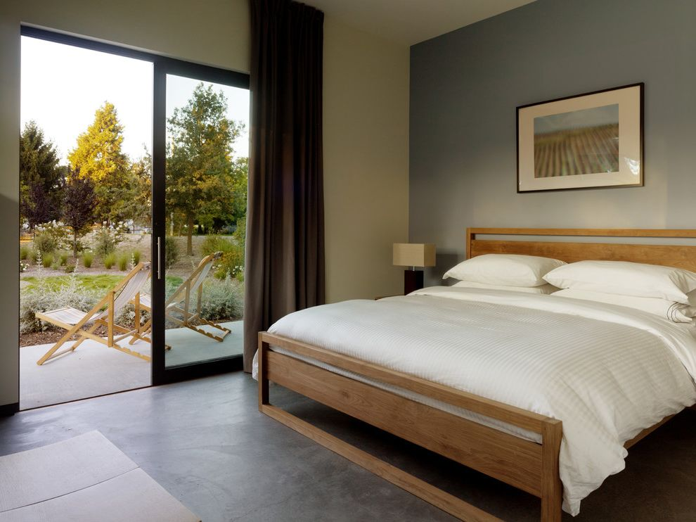 Crate and Barrel Chicago with Modern Bedroom Also Accent Wall Bed Concrete Floor Gray Grey Natural Patio Door Wood Bed