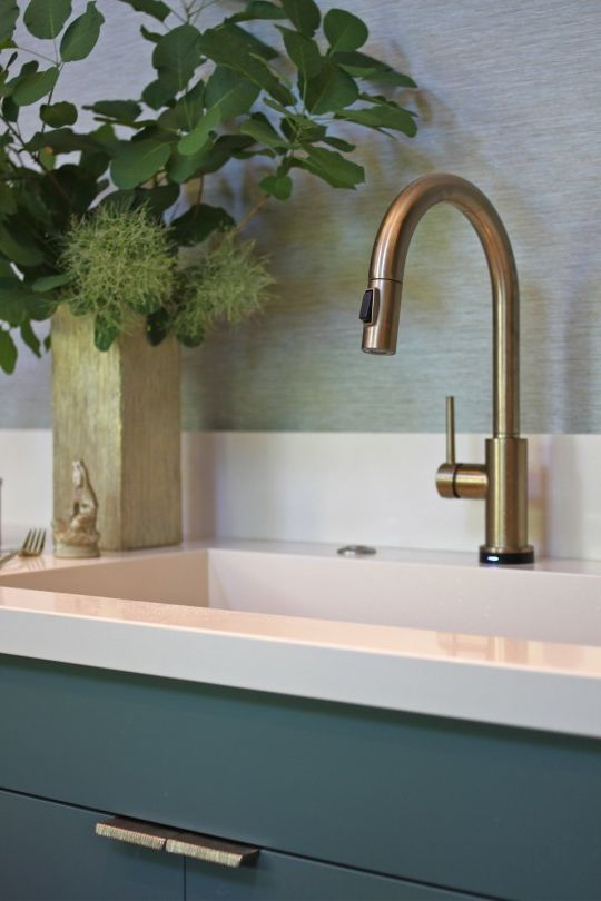 Delta Faucet Warranty with Midcentury Kitchen  and Champagne Bronze Cosentino Intergrated Sink Kitchen Mid Century Kitchen Modern Panelled Cabinets Silestone