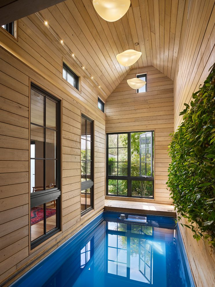 Endless Pools Cost with Contemporary Pool Also Black Window Trim Green Wall Living Wall Pendant Lights Renovation Rift Oak Flooring Rowhome Salvaged Wood Townhome Urban Garden Vertical Garden Windows Wood Panel Wall
