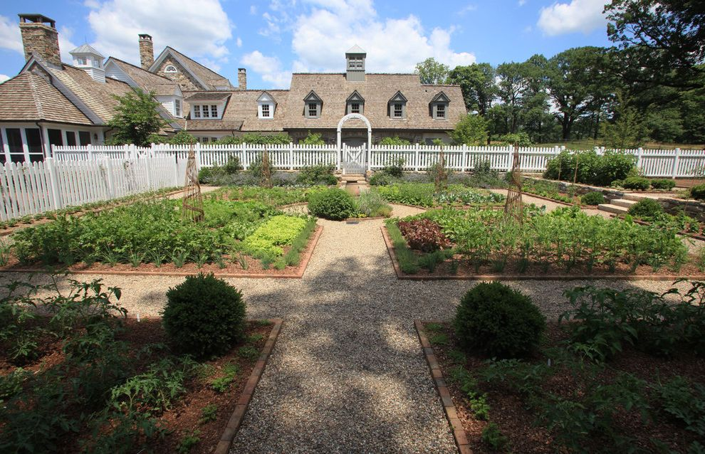 Fairfield Garden Center with Traditional Landscape Also Arbor Brick Edging Country Garden Garden Path Gravel Pathway Herb Garden Path Picket Fence Potager Stone Wall Vegetable Garden Walkway Wood Fencing