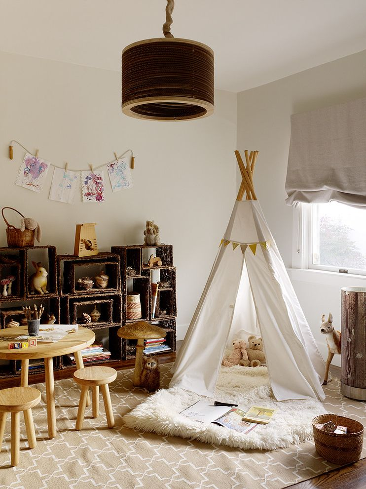Furniture Stores Fort Myers   Rustic Kids  and Area Rug Flokati Hanging Art Natural Colors Pendant Lamp Play Table Roman Shade Storage Baskets Teepee Toys Wooden Drum Shade