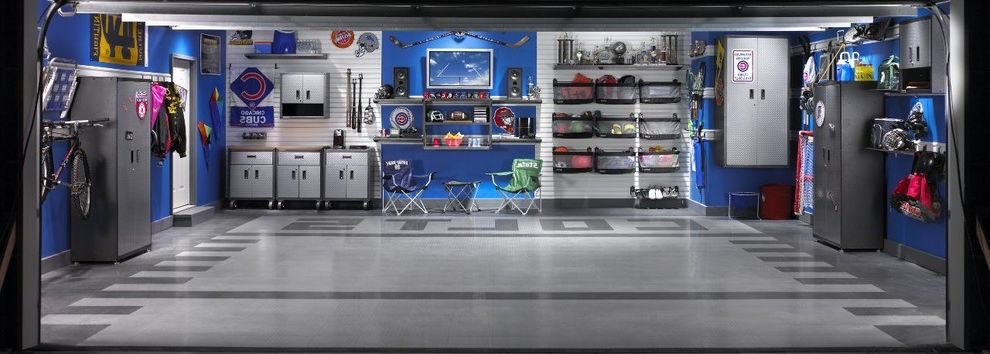 Gladiator Shelving   Traditional Shed  and Dream Garage Floor Tiles Garage Gear Boxes Organization Sporting Equipment Sports Storage