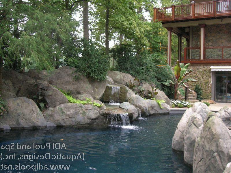 Greensboro Pools   Tropical Pool  and Pool Waterfall