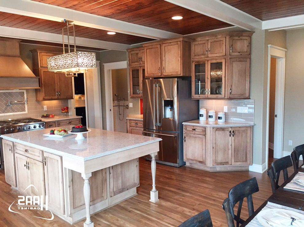 Haas Cabinets with Rustic Kitchen Also Brown Cabinetry Cabinets Cottage Distressed Cabinet Haas Cabinet Kitchen Kitchen Cabinets Lancaster Rustic Western Wood Working