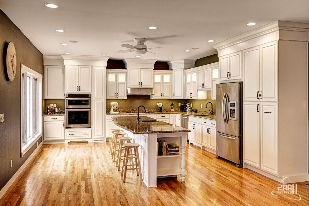 Haas Cabinets with Transitional Kitchen  and Cabinet Haas Cabinet Indiana Kitchen Kitchen Cabinets Traditional Kitchen Transitional White Yellow