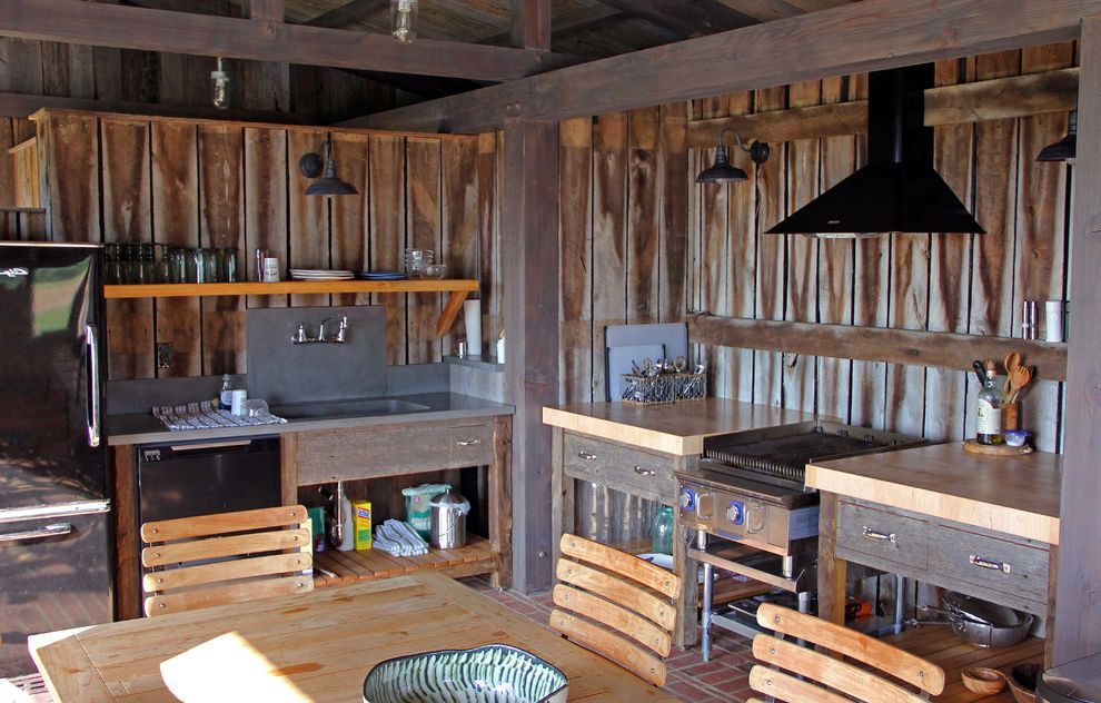 Heating and Cooling Louisville Ky   Eclectic Kitchen  and Barn Brick Floor Cabin Farm House Folding Glass Doors Heavy Timber Horse Barn Kentucky Metal Roof Pool House Reclaimed Wood Rustic Design Small Kitchen Soapstone Sink Timber Frame