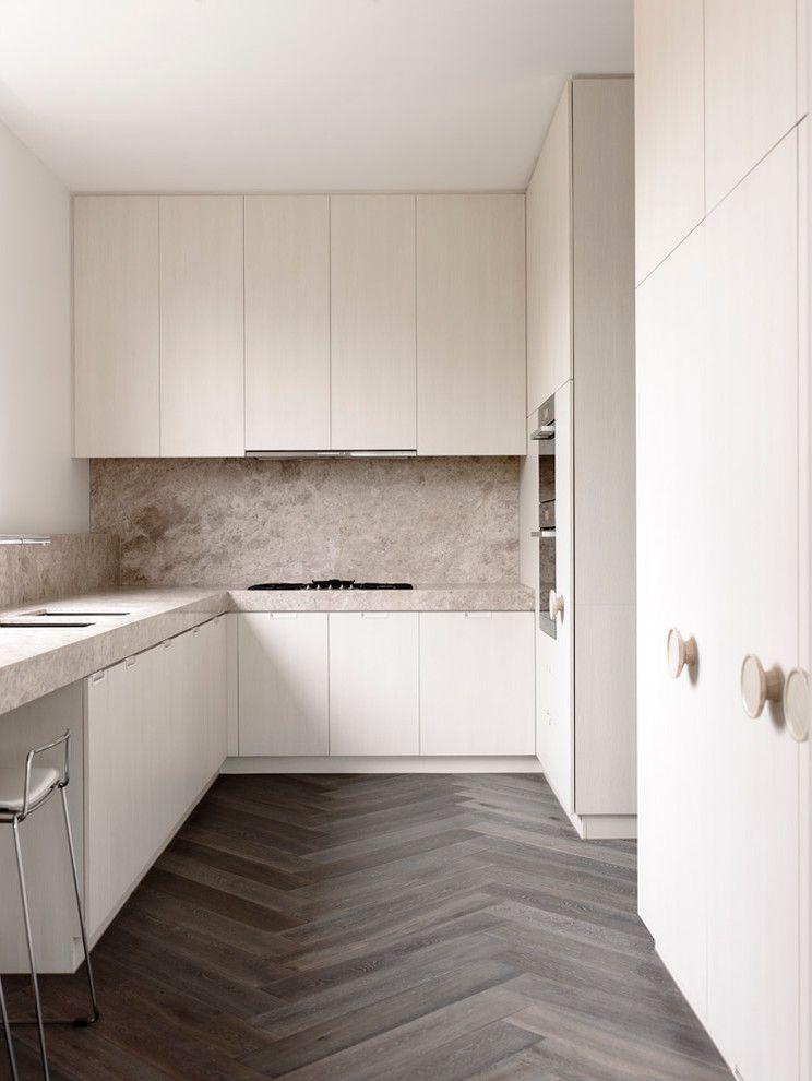 Herringbone Wood Floor   Contemporary Kitchen Also Apartment Bar Stools Herringbone Wood Floor Melbourne Toorak