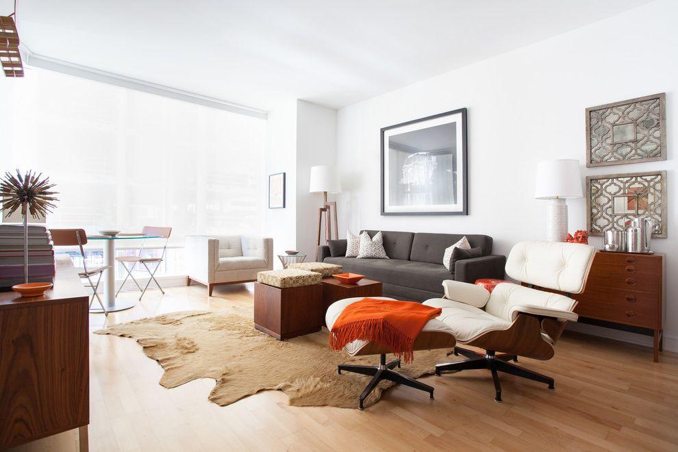 High Quality Sleeper Sofa   Contemporary Living Room Also Art Cow Rug Eames Chair Floor Lamp Gray Sofa Orange Throw Wall Art Walnut