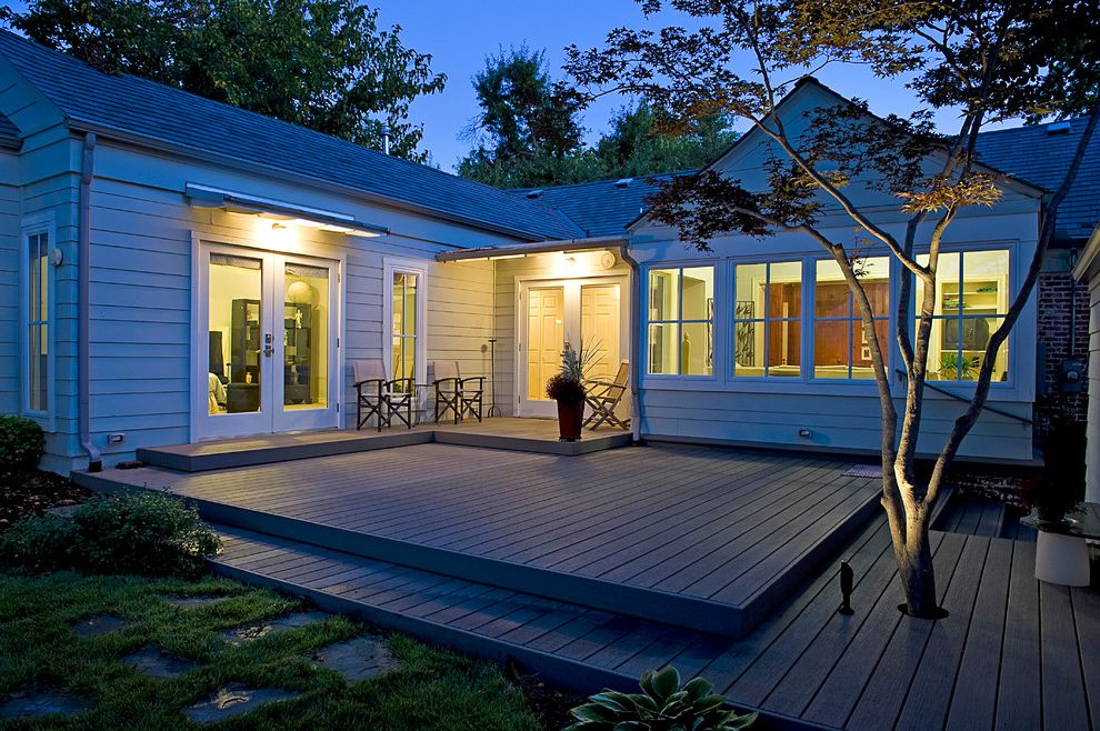 Home Depot Composite Decking   Contemporary Deck Also Beds Boulders Composite Decking Deck French Doors Japanese Maple Landscape Lighting Landscaping Native River Rock Paving Stones