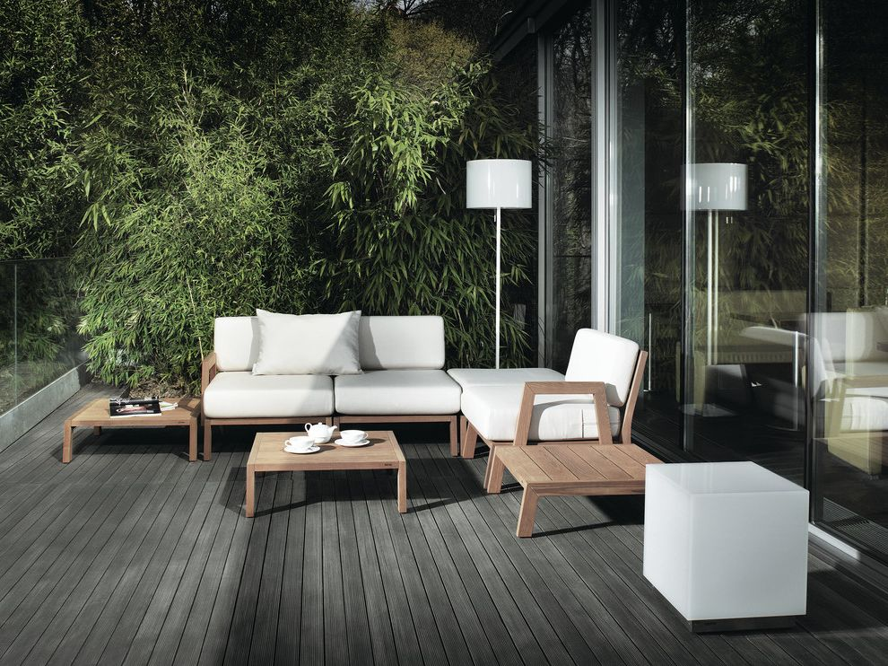 Home Depot Composite Decking   Modern Patio Also Bamboo Exterior Seating Floor Lamp Glass Iroko Neutral Colors Outdoor Cushions Outdoor Entertaining Outdoor Lighting Outdoor Seating Side Table Sliding Glass Doors Teak Furniture White Wood Wooden Decking