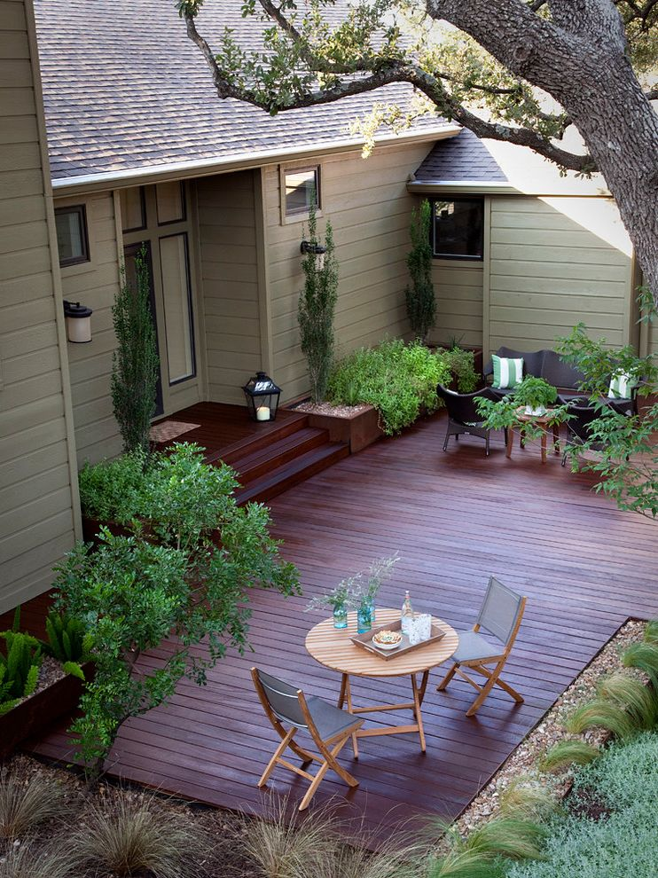 Home Depot Composite Decking   Traditional Deck Also Austin Blue Glass Vases Cherry Stain Deck Landscape Light Green Siding Outdoor Dining Outdoor Living Outdoor Living Space Outdoor Space Patio Patio Furniture Texas Tray Wood Deck Wood Patio Furniture