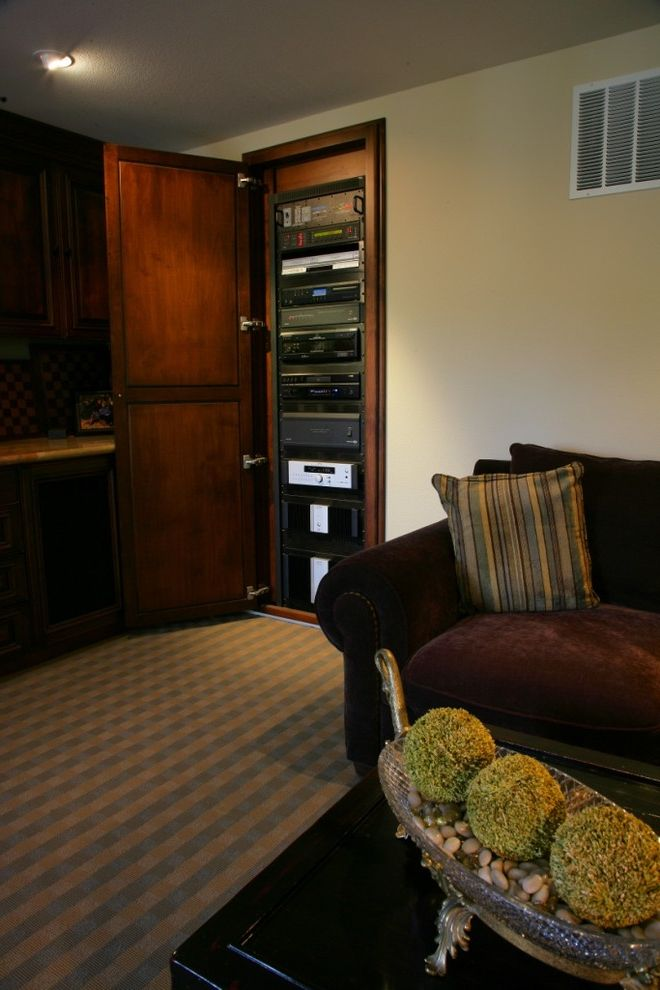 Home Theater Component Rack with Traditional Home Theater  and Traditional