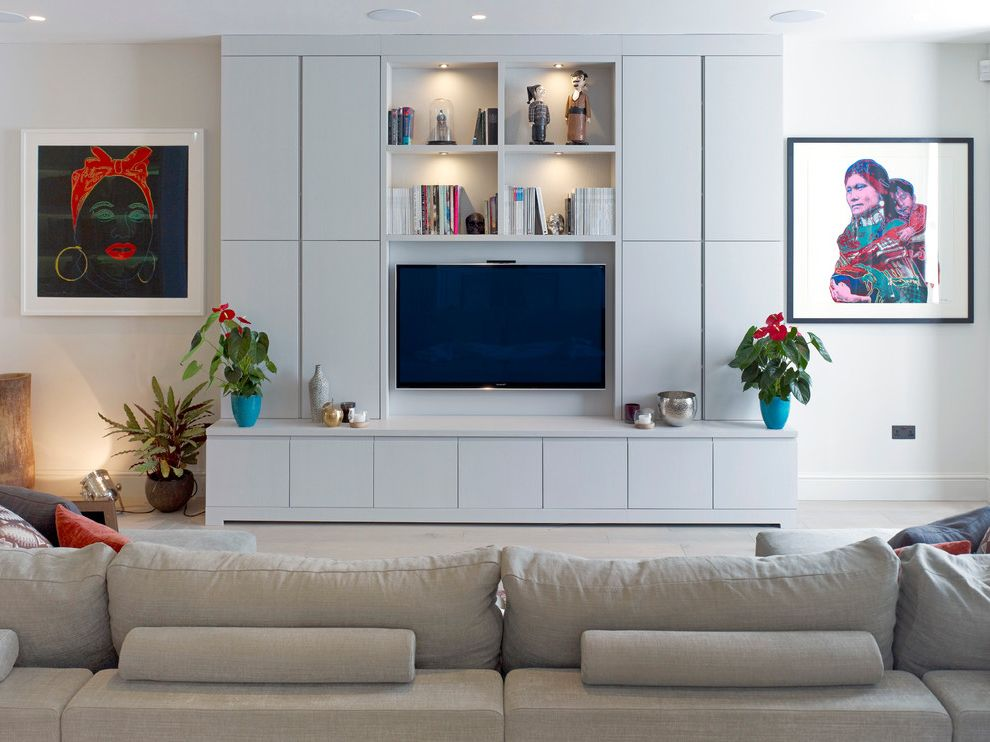 Homemade Tv Mount with Contemporary Living Room Also Concrete Contemporary Art Gray Couch Joinery Kitchen Oak Resin Floor Tv Cabinet Tv Room Tv Unit Wall Mounted Tv