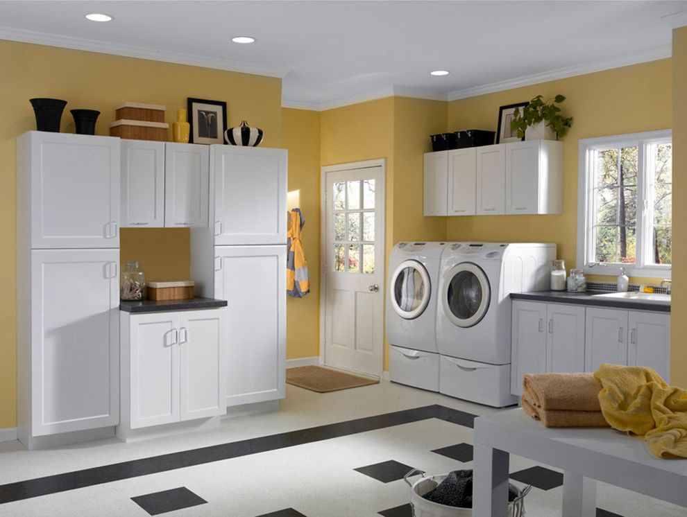 How to Clean Silverware   Contemporary Laundry Room  and Laundry Room Shaker Cabinets Tile Floor White Cabients White Laundry Room