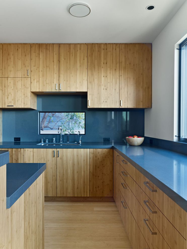 How to Clean Silverware   Modern Kitchen Also Backsplash Bamboo Blue Countertops Cabinetry Kitchen Island Kitchen Window Natural Light
