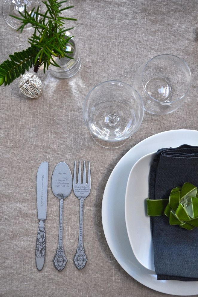 How to Clean Silverware with Eclectic Dining Room Also Celebration Christmas Christmas Decor Holiday Decor Party