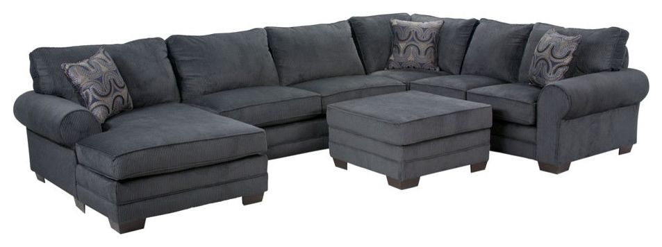 Jerome's Couches   Contemporary Living Room  and Chaise Microfiber Ottoman Transitional