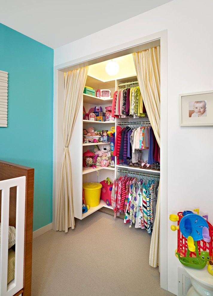 Kids Closet Connection with Contemporary Kids  and Curtains Kids Closet Kids Clothing Kids Room Modular Closet Stow Storage Closet Turquoise Wall