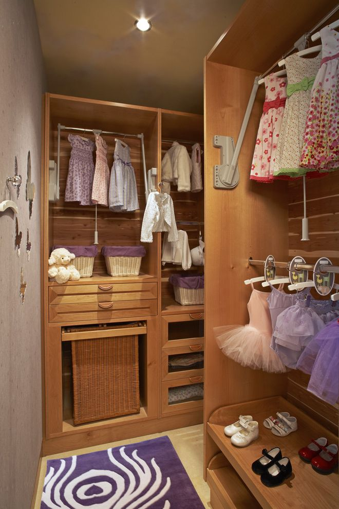 Kids Closet Connection with Traditional Closet Also Area Rug Baskets Cedar Closet Childrens Closet Drawers Girls Closet Gray Wall Hanging Rod Hooks Laundry Basket Leather Pulls Swing Rod Valet Rod Wall Hooks