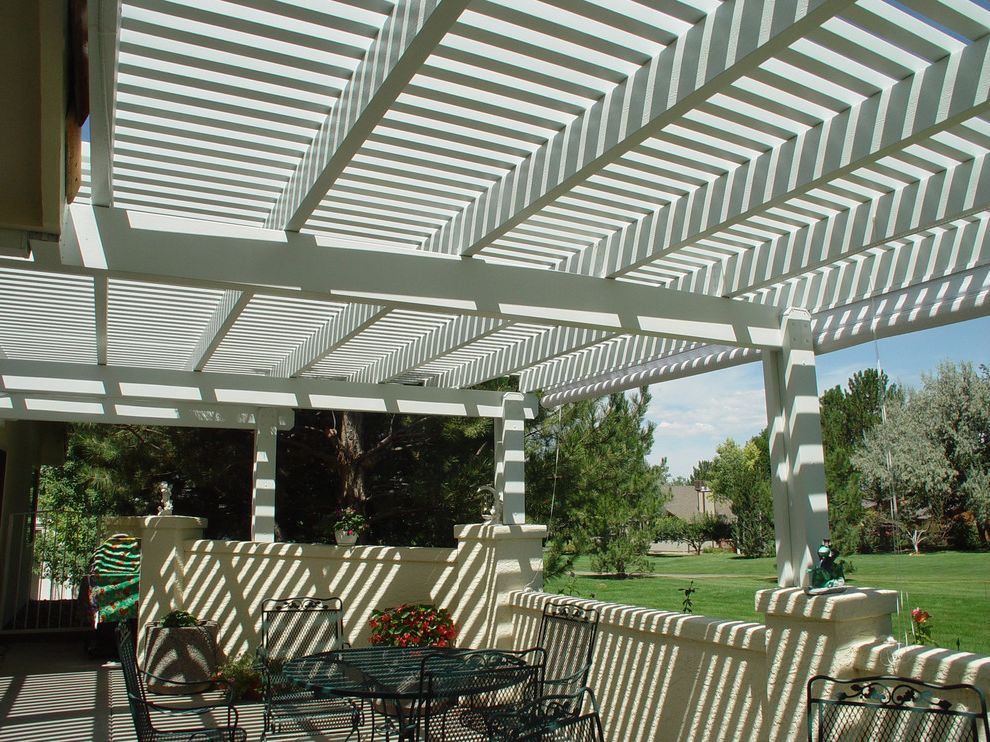 Kyle Tx Weather   Farmhouse Patio Also Aluminum Arbor Indoor Outdoor Living Metal Outdoor Dining Outdoor Entertaining Patio Pergola Pony Wall Shade Stucco White Painted Wood Wood Grain