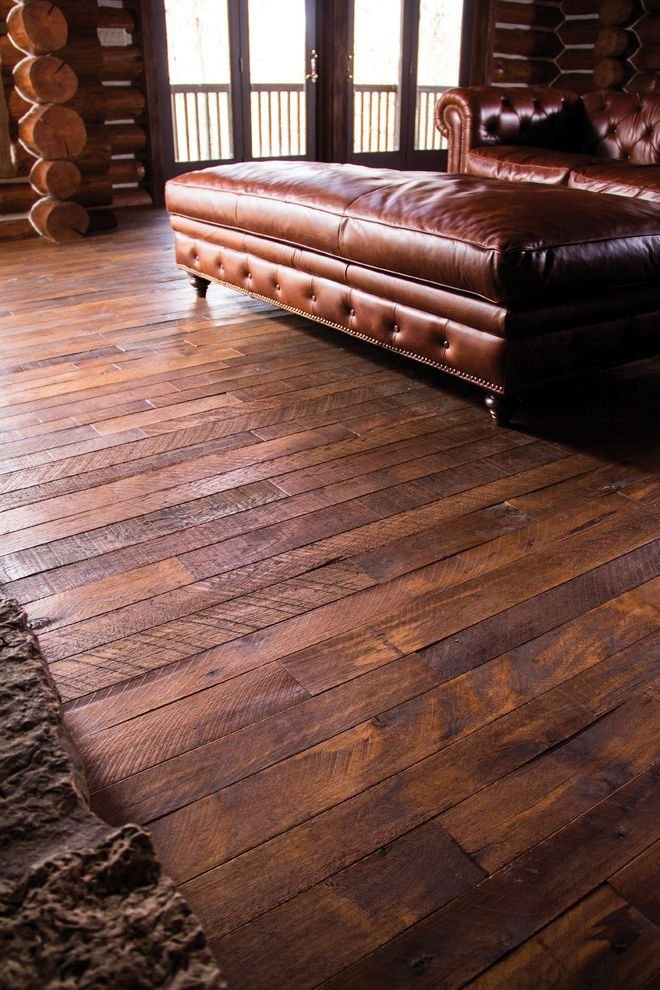 Locksmith Springfield Mo   Traditional Living Room  and Brown Leather Sofa Hallmark Floors Hardwood Flooring Interior Design Medium Hardwood Floor Organic Reclaimed Wood Rustic Wood Solid Wood Flooring