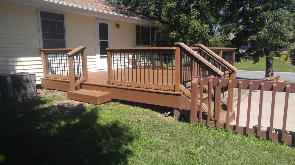 Lowes Bloomington in   Traditional Deck Also Aluminum Baluster Railing Deck Dog Gate Deck in Bloomington Mn Deck Railing Low Level Deck Low Maintenance Composite Low Maintenance Deck Trex Deck Trex Saddle Trex Saddle Deck Trex Select Saddle
