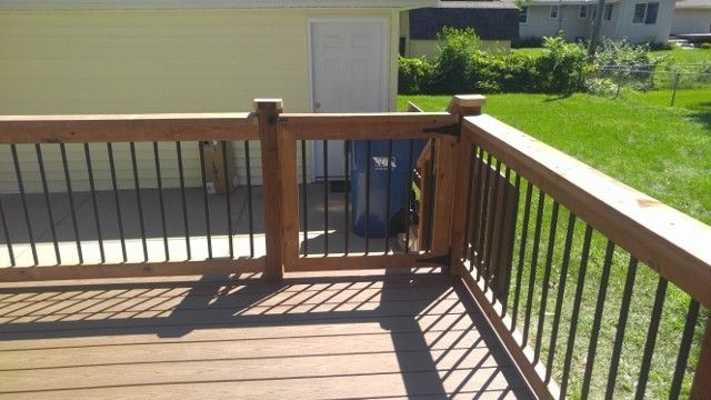 Lowes Bloomington in   Traditional Deck  and Aluminum Baluster Railing Deck Dog Gate Deck in Bloomington Mn Deck Railing Low Level Deck Low Maintenance Composite Low Maintenance Deck Trex Deck Trex Saddle Trex Saddle Deck Trex Select Saddle