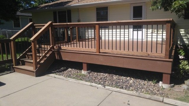 Lowes Bloomington in with Traditional Deck  and Aluminum Baluster Railing Deck Dog Gate Deck in Bloomington Mn Deck Railing Low Level Deck Low Maintenance Composite Low Maintenance Deck Trex Deck Trex Saddle Trex Saddle Deck Trex Select Saddle