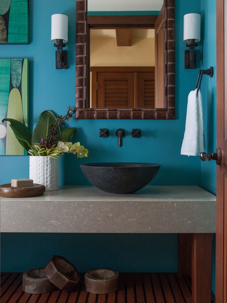 Lowes Henderson with Tropical Bathroom Also Bathroom Beach House Bowl Sink Green Island Living Mirror Powder Room Stone Tropical Mirror Vanity Vessel Sink Wall Mounted Faucet