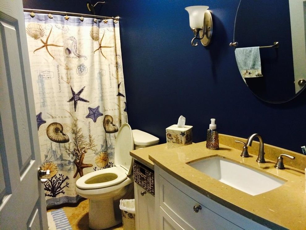 Lowes Steubenville Ohio   Traditional Spaces  and in Stock Vanity From Lowes with a Contrasting Valspar Paint