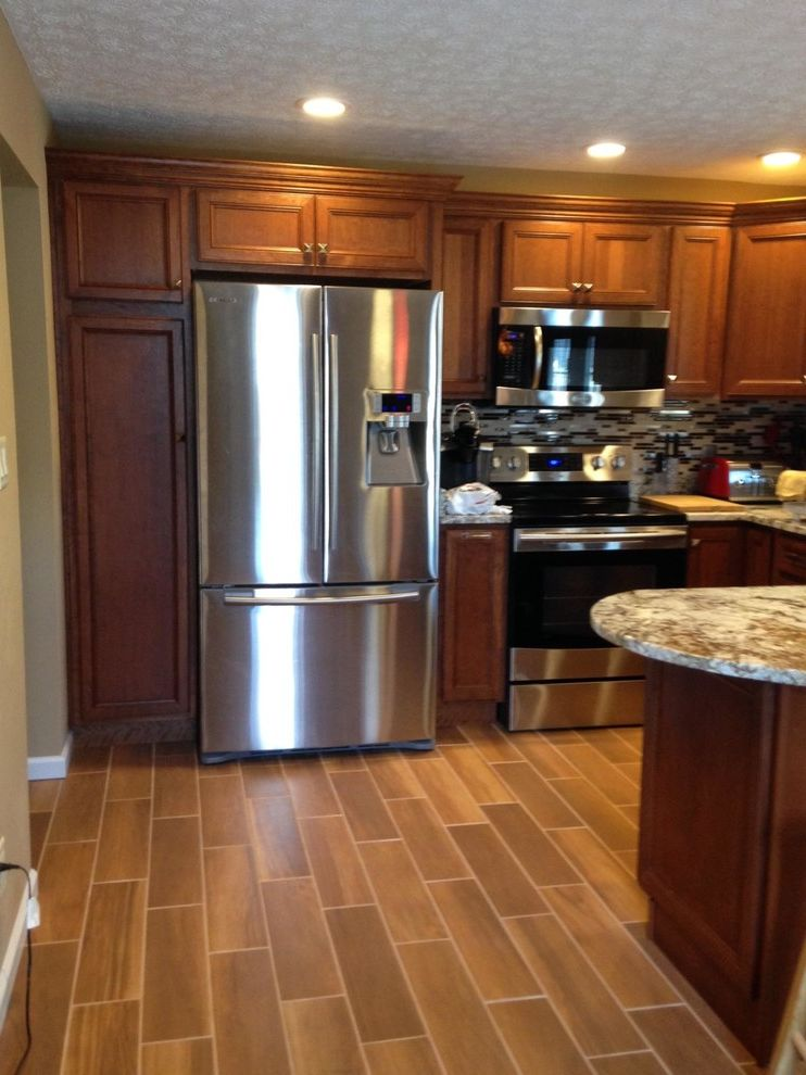 Lowes Steubenville Ohio   Transitional Kitchen  and Ceramic Tile That Looks Like Wood