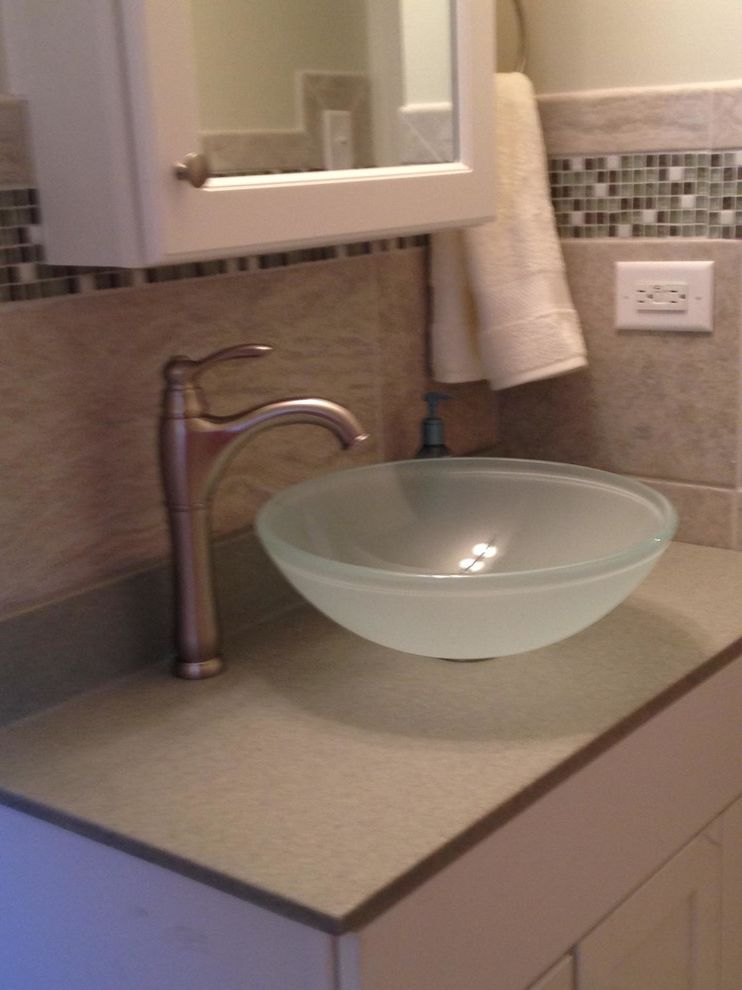 Lowes Steubenville Ohio with Transitional Bathroom  and Vessel Sink Adds Interest to a Bathroom Renovation
