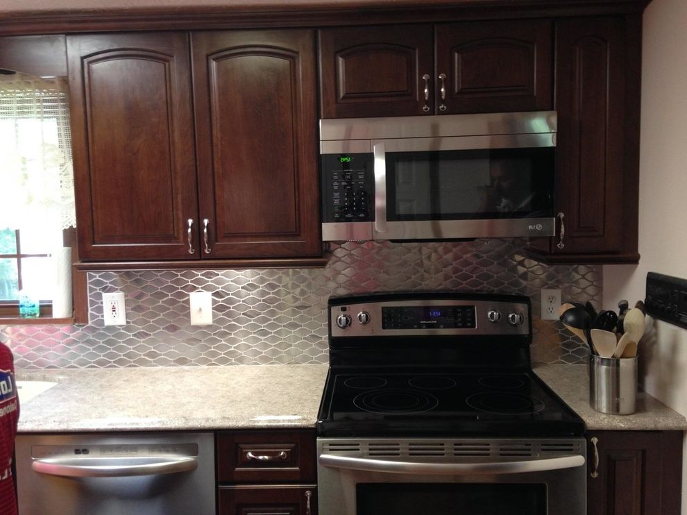 Lowes Steubenville Ohio with Transitional Kitchen Also Stainless Backsplash Compliments the Stainless Appliances