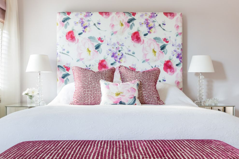 Make Your Own Doormat with Victorian Bedroom  and Bedding Cushions Fabric Floral Fabric Floral Headboard Flower Pattern Headboard Springtime Upholstered Headboard