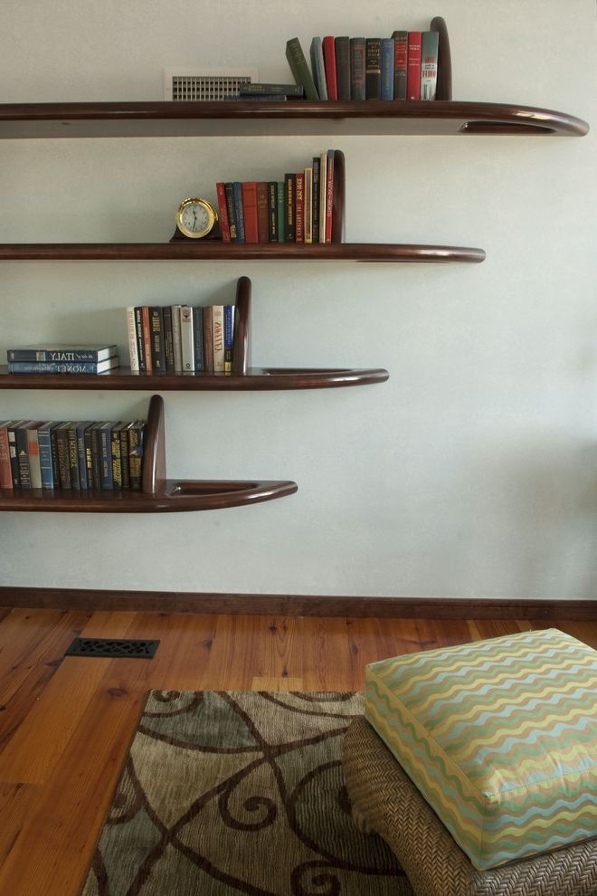 Moving Picture App with Eclectic Hall Also Area Rug Bookshelves Dark Floor Floating Shelves Floor Cushions Wood Flooring