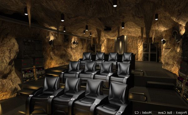 Oro Valley Theater   Contemporary Home Theater Also Black Chairs Entertainment Leather Media Room Modern Pendant Lamp Theatre Seating