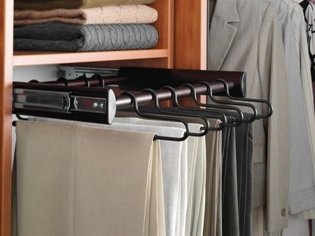 Pants Hangers in Bulk   Contemporary Closet Also Closet Organization Closets Custom Closet Organization Custom Closet Storage Hanging Clothes Medium Wood Organizing Clothes Pants Hangers Slack Racks Tailored Living