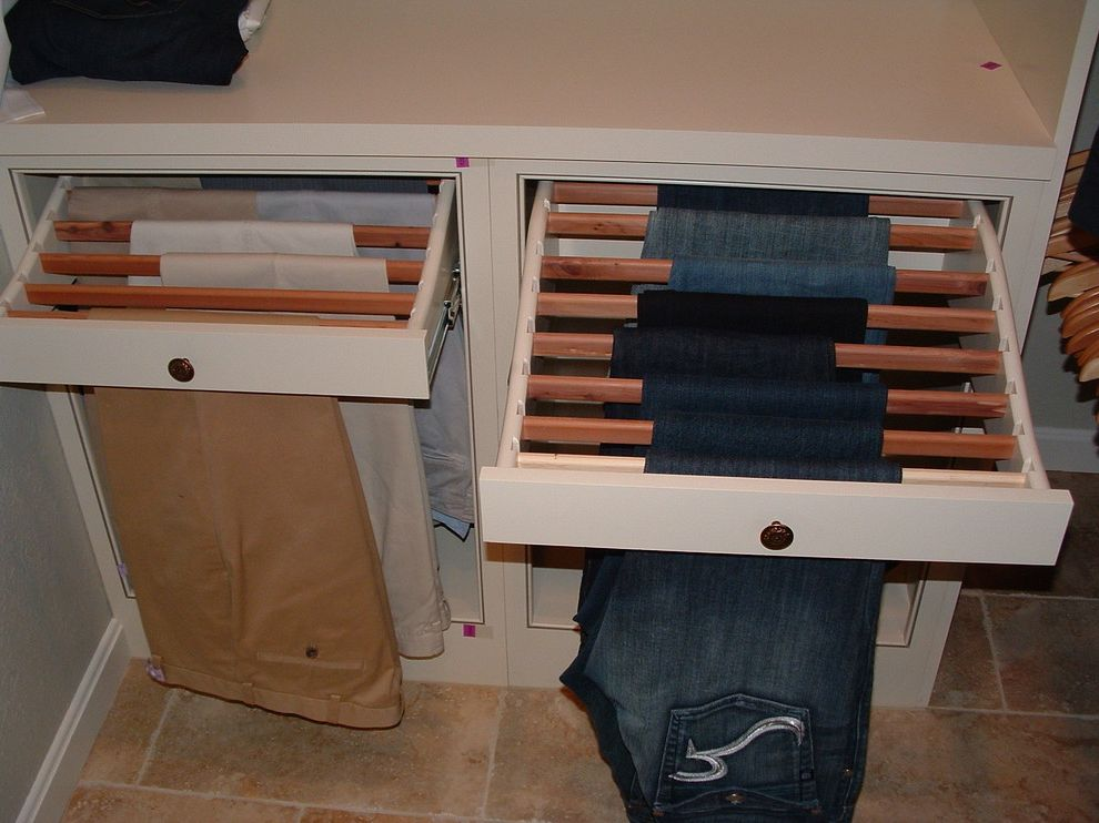 Pants Hangers in Bulk   Traditional Closet  and Custom Closet Cabinetry by Shiloh