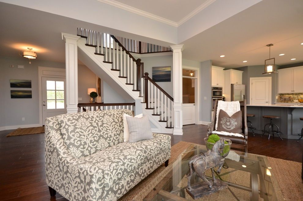 Pendragon Homes with Transitional Family Room  and Transitional