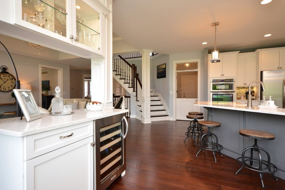 Pendragon Homes with Transitional Home Bar  and Transitional