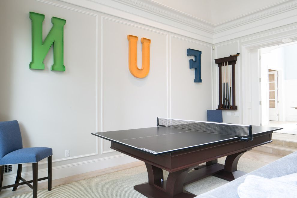Ping Pong Tables with Traditional Family Room Also Game Room Heavy Ping Pong Table High End Ping Pong Table Ping Pong Table Sisal Rug