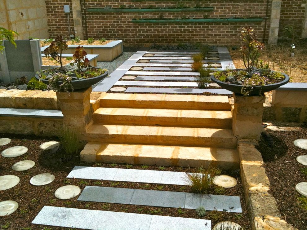 Rectangular Pavers   Eclectic Landscape Also Eclectic