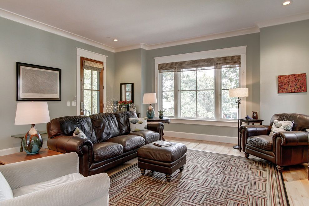 Sherwin Williams Nashville Tn   Contemporary Living Room  and High Ceilings Leed Natural Light Open Floor Plan Small Space Teal Living Room
